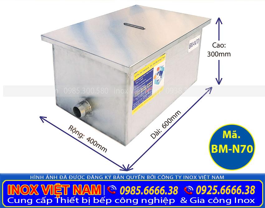 bể tách mỡ công nghiệp 70 BM-N70